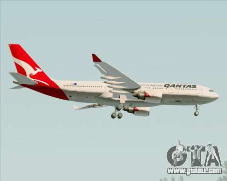 Airbus A330-200 Qantas for GTA San Andreas upper view
