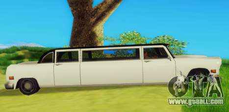 Cabbie Limousine for GTA San Andreas back left view