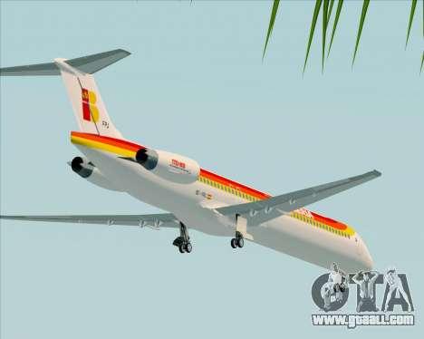 McDonnell Douglas MD-82 Iberia for GTA San Andreas upper view