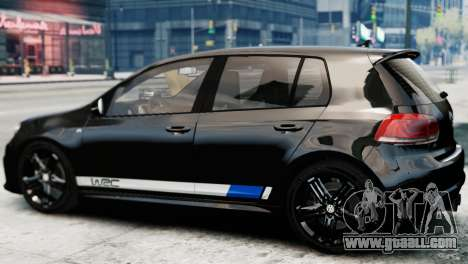 Volkswagen Golf R 2010 Polo WRC Style PJ1 for GTA 4 left view
