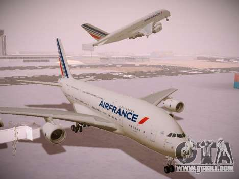 Airbus A380-800 Air France for GTA San Andreas inner view
