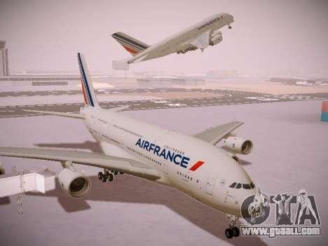 Airbus A380-800 Air France for GTA San Andreas inner view