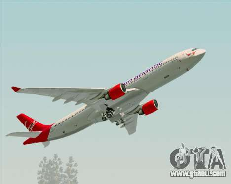 Airbus A330-300 Virgin Atlantic Airways for GTA San Andreas upper view