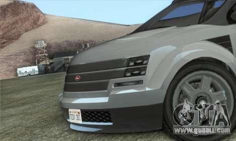 Vapid Radius 1.0 (HQLM) for GTA San Andreas back left view