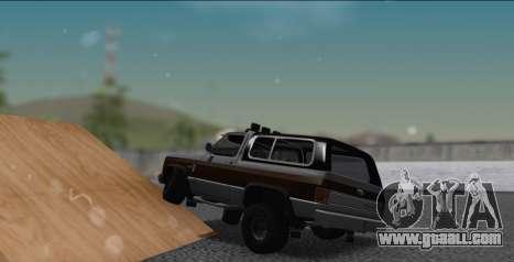 Chevrolet Blazer K5 for GTA San Andreas left view