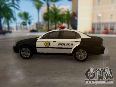 Chevrolet Evanda Police for GTA San Andreas left view