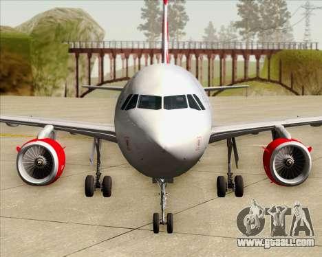 Airbus A319 Air Canada Rouge for GTA San Andreas interior