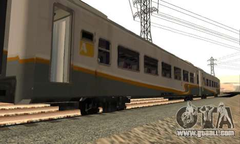 K1 Argo Traincar Indonesian for GTA San Andreas left view