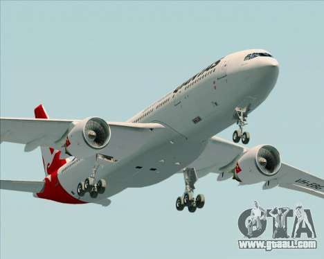 Airbus A330-200 Qantas for GTA San Andreas side view