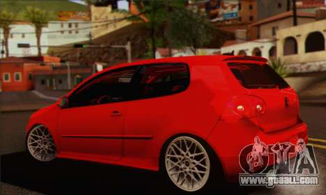 Volkswagen Golf 5 for GTA San Andreas left view