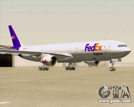 Airbus A330-300P2F Federal Express for GTA San Andreas left view