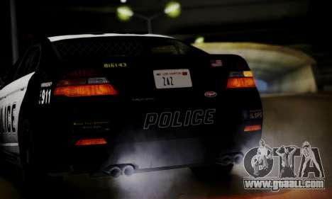 Vapid Police Interceptor from GTA V for GTA San Andreas inner view