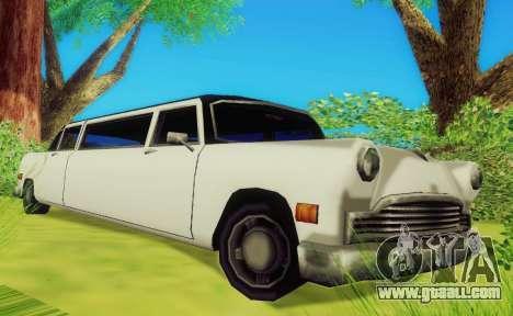 Cabbie Limousine for GTA San Andreas left view