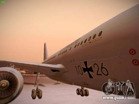 Airbus A310 MRTT Luftwaffe (German Air Force) for GTA San Andreas upper view