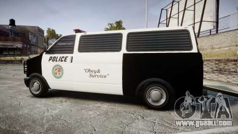 Declasse Burrito Police Transporter LED [ELS] for GTA 4 left view
