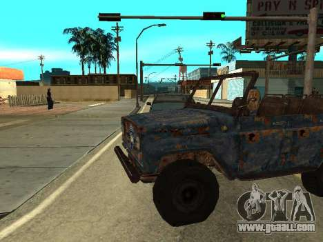Police UAZ from Stalker for GTA San Andreas left view