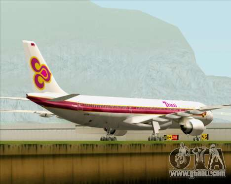 Airbus A330-300 Thai Airways International for GTA San Andreas back view
