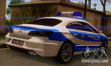Volkswagen Passat CC Polizei 2013 v1.0 for GTA San Andreas left view