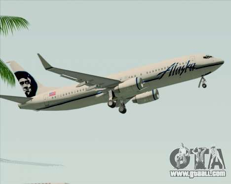 Boeing 737-890 Alaska Airlines for GTA San Andreas side view