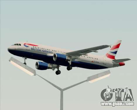 Airbus A320-232 British Airways for GTA San Andreas interior