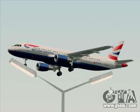 Airbus A320-232 British Airways for GTA San Andreas interior