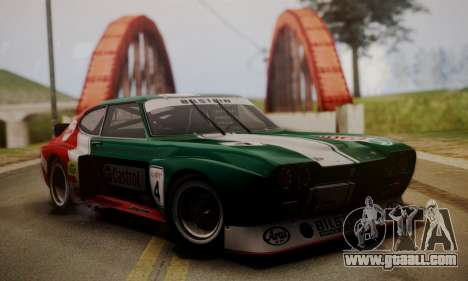 Ford Capri RS Cosworth 1974 Skinpack 2 for GTA San Andreas inner view