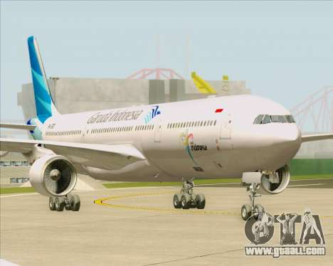 Airbus A330-300 Garuda Indonesia for GTA San Andreas back left view