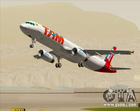 Airbus A321-200 TAM Airlines for GTA San Andreas engine