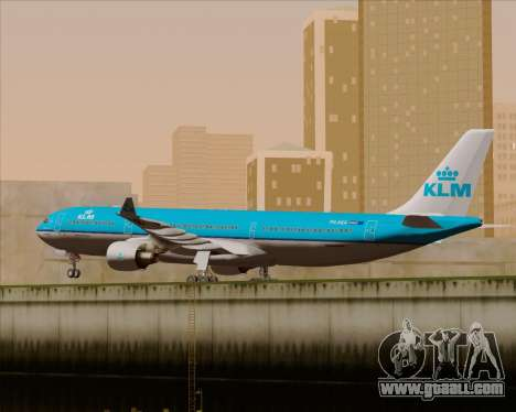 Airbus A330-300 KLM Royal Dutch Airlines for GTA San Andreas inner view