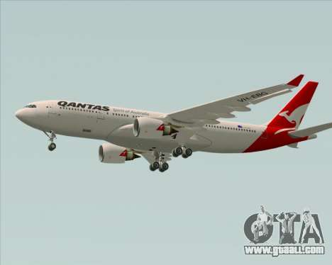 Airbus A330-200 Qantas for GTA San Andreas inner view