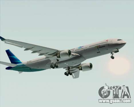 Airbus A330-300 Garuda Indonesia for GTA San Andreas upper view