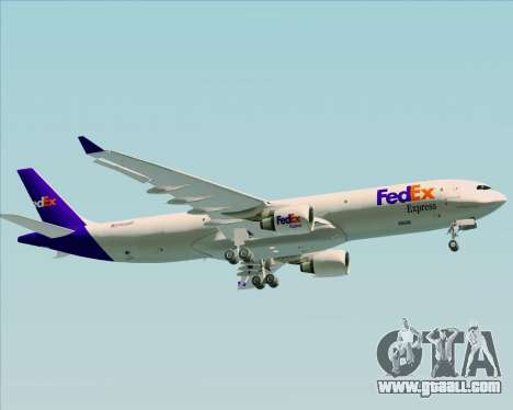 Airbus A330-300P2F Federal Express for GTA San Andreas side view