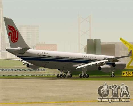 Airbus A340-313 Air China for GTA San Andreas back view
