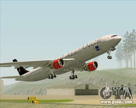 Airbus A330-300 SAS (Star Alliance Livery) for GTA San Andreas bottom view