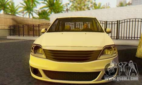 Dacia Logan White for GTA San Andreas back view