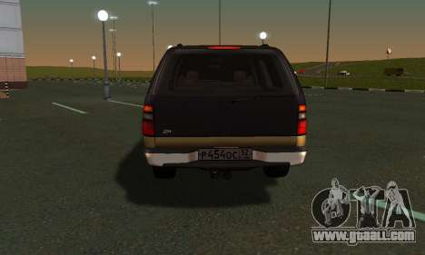 GMC Yukon XL ФСБ for GTA San Andreas back view