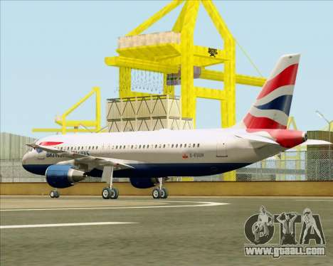 Airbus A320-232 British Airways for GTA San Andreas right view