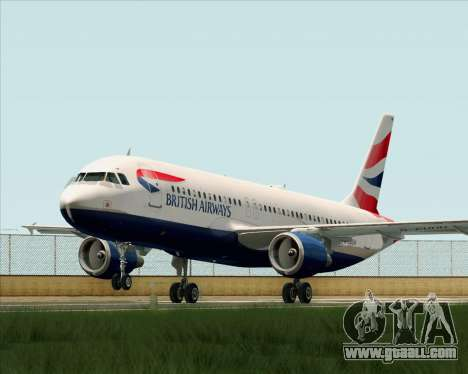 Airbus A320-232 British Airways for GTA San Andreas