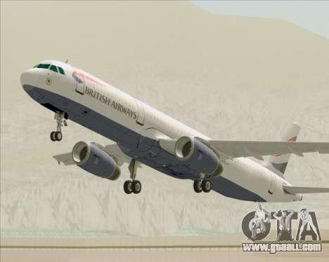 Airbus A321-200 British Airways for GTA San Andreas wheels