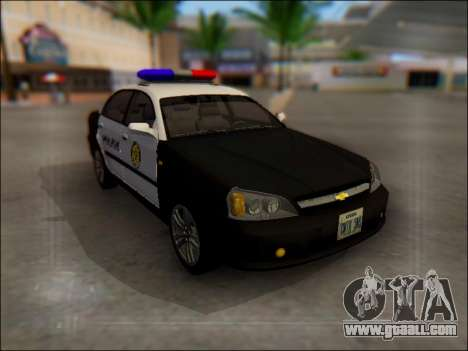 Chevrolet Evanda Police for GTA San Andreas side view