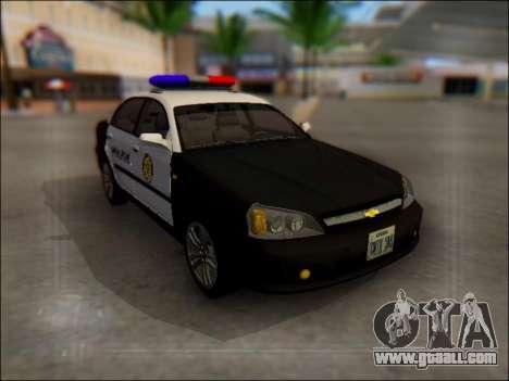 Chevrolet Evanda Police for GTA San Andreas side view