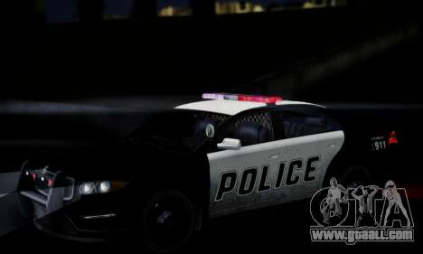 Vapid Police Interceptor from GTA V for GTA San Andreas upper view