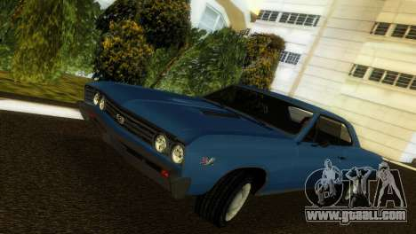 Chevrolet Chevelle SS 1967 for GTA Vice City side view