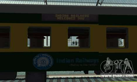 Garib Rath Express for GTA San Andreas back view