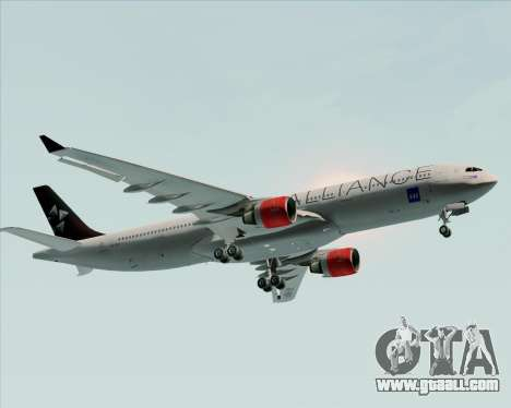 Airbus A330-300 SAS (Star Alliance Livery) for GTA San Andreas side view