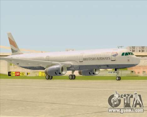 Airbus A321-200 British Airways for GTA San Andreas left view