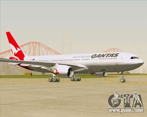 Airbus A330-200 Qantas for GTA San Andreas left view