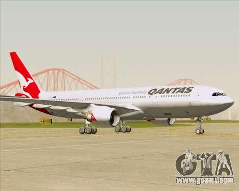 Airbus A330-200 Qantas for GTA San Andreas left view