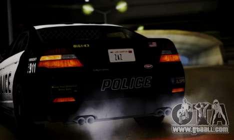 Vapid Police Interceptor from GTA V for GTA San Andreas back view