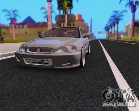 Honda Civic EM1 V2 for GTA San Andreas inner view